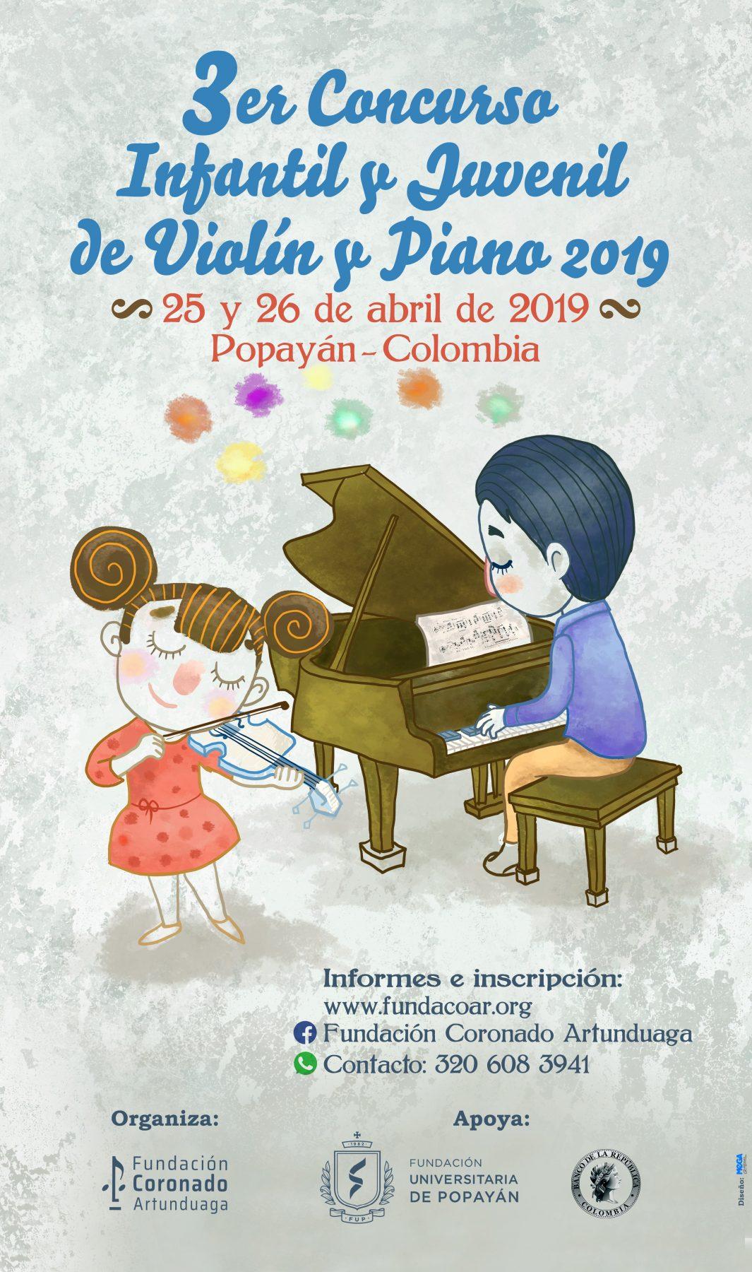 3ER CONCURSO INFANTIL Y JUVENIL DE VIOLÍN Y PIANO 2019